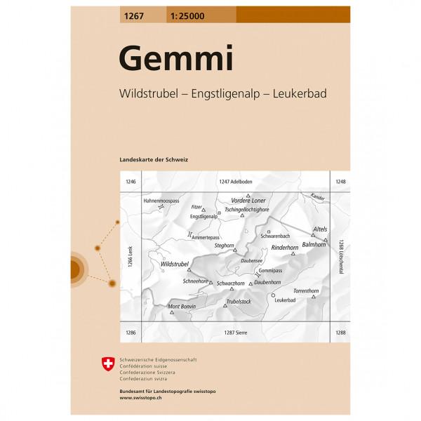 Swisstopo -  1267 Gemmi - Vandrekort