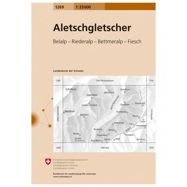 Swisstopo - 1269 Aletschgletscher - Wandelkaart