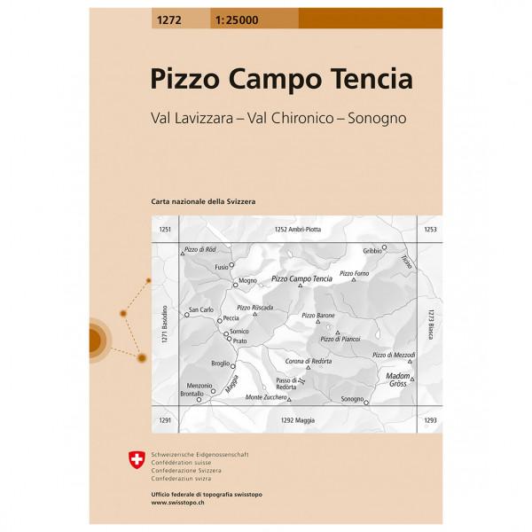 Swisstopo - 1272 Pizzo Campo Tencia - Wandelkaart