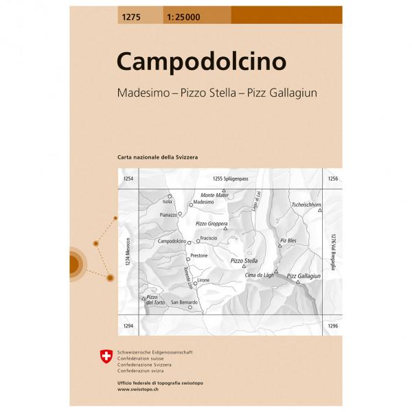Swisstopo -  1275 Campodalcino - Wanderkarte