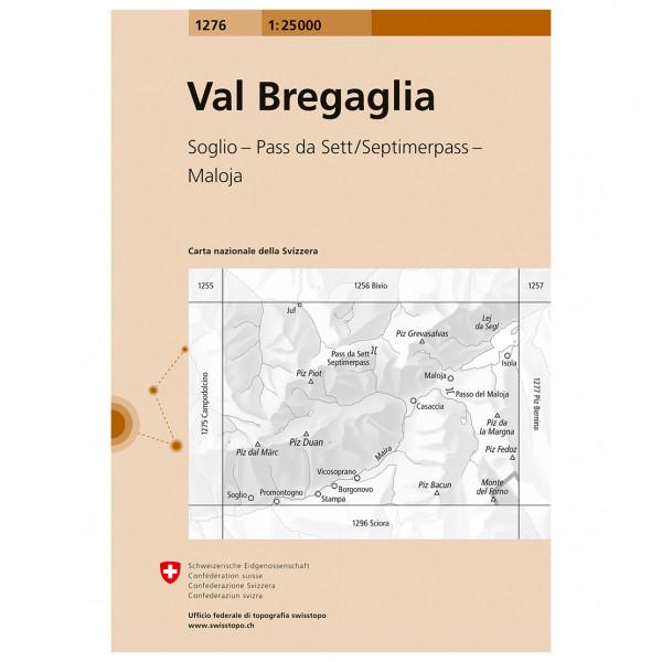 Swisstopo - 1276 Val Bregaglia - Mapa de senderos