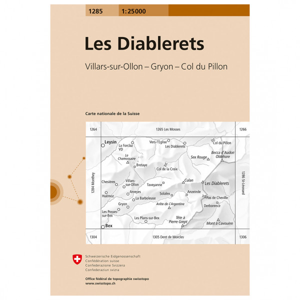 Swisstopo - 1285 Les Diablerets - Vandringskartor
