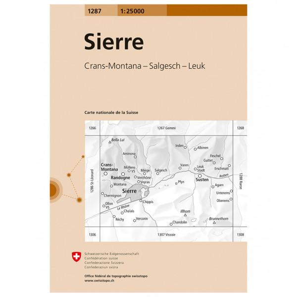 Swisstopo -  1287 Sierre - Wandelkaarten