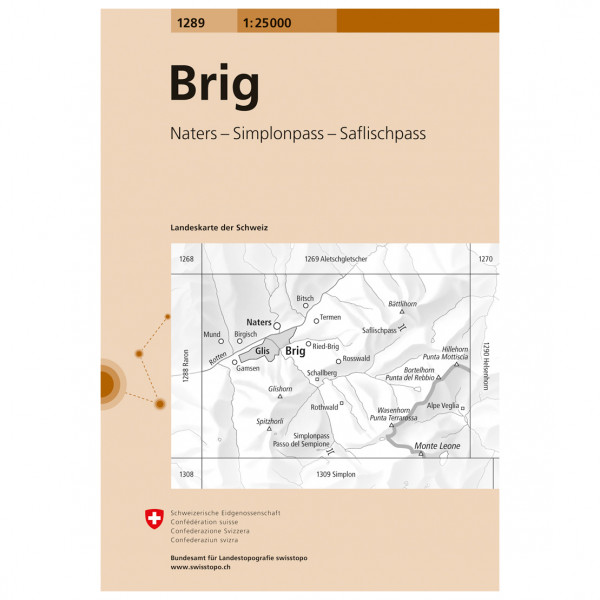 Swisstopo -  1289 Brig - Vaelluskartat