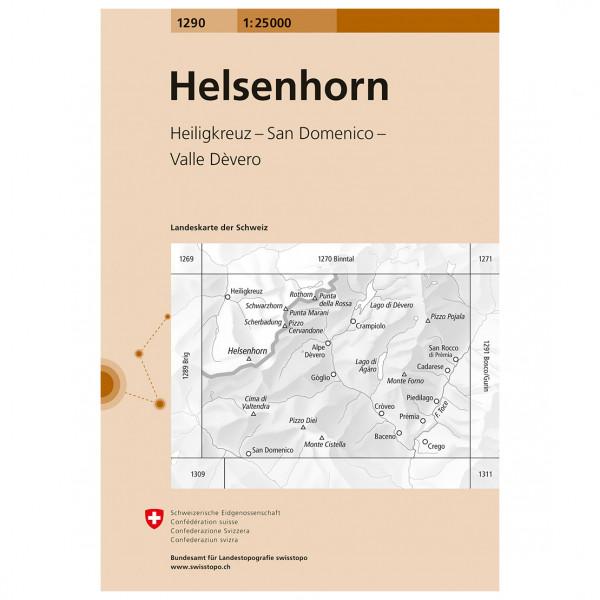 Swisstopo -  1290 Helsenhorn - Vandringskartor
