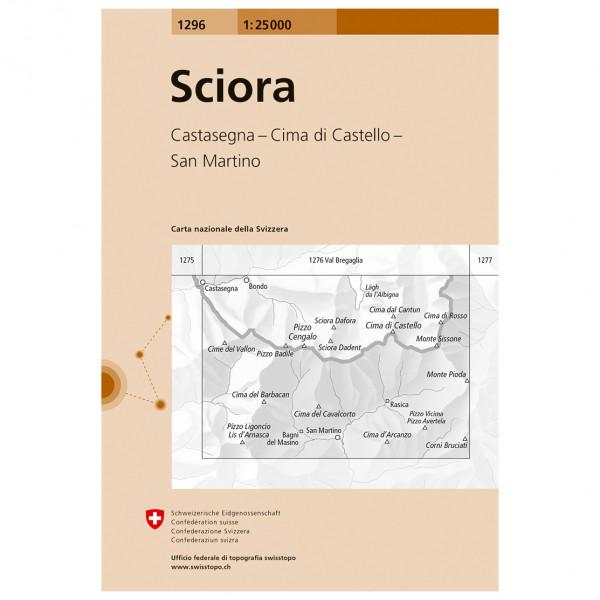 Swisstopo -  1296 Sciora - Wandelkaart