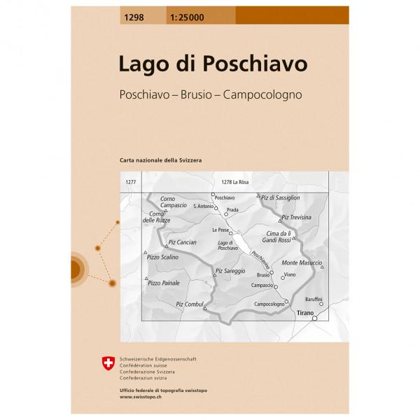 Swisstopo - 1298 Lago di Poschiavo - Hiking map