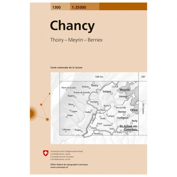 Swisstopo -  1300 Chancy - Turkart