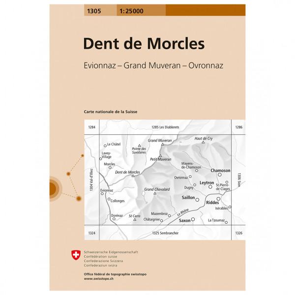 Swisstopo - 1305 Dent de Morcles - Wanderkarte
