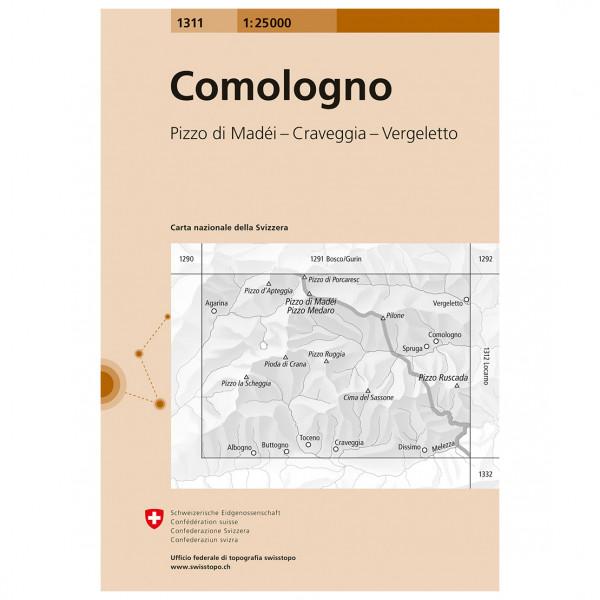 1311 Comologno - Hiking map