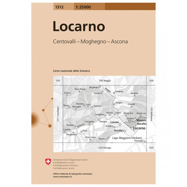 Swisstopo -  1312 Locarno - Hiking map