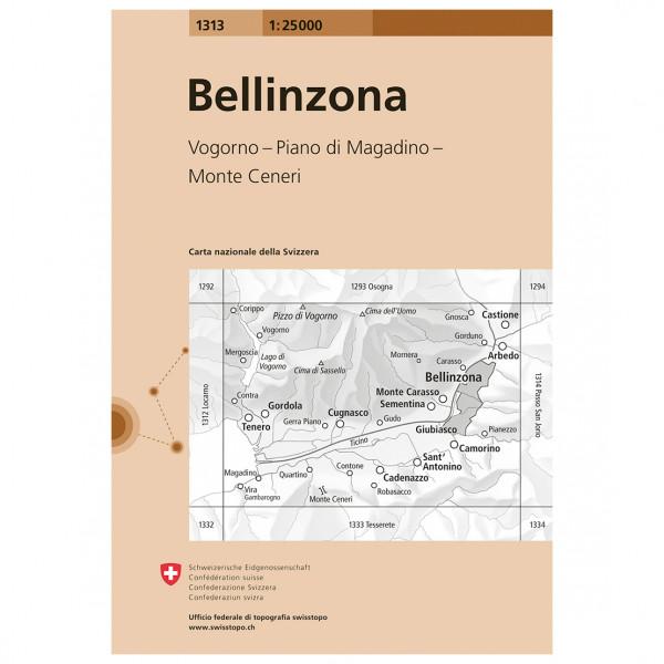 Swisstopo -  1313 Bellinzona - Hiking map