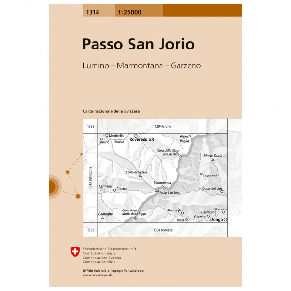 Swisstopo - 1314 Passo San Jorio - Vaelluskartat