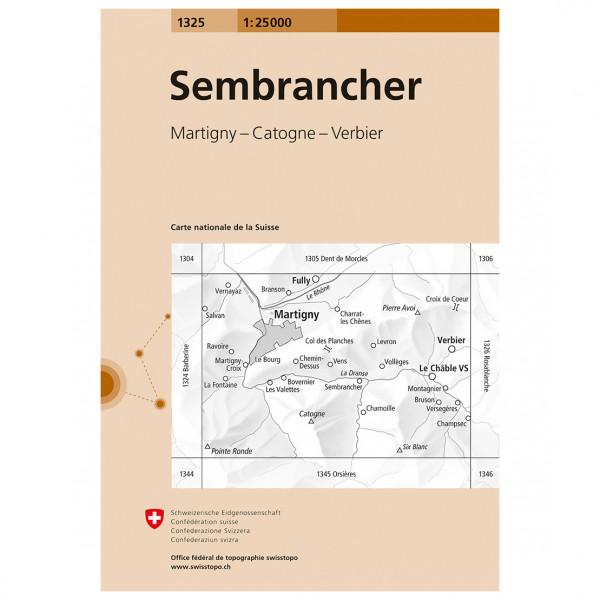 Swisstopo -  1325 Sembrancher - Wandelkaarten