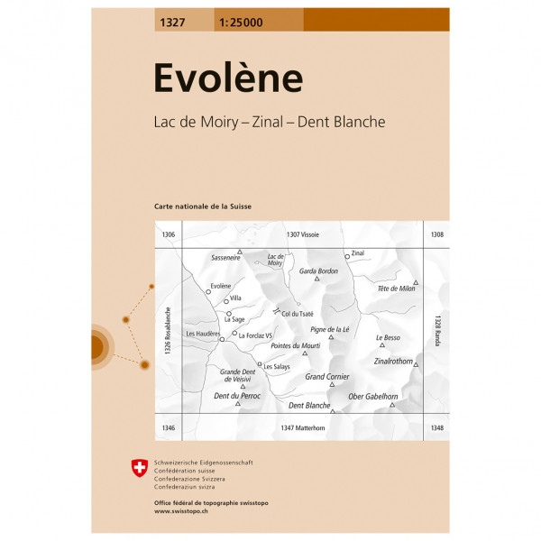 Swisstopo -  1327 Evolène - Vaelluskartat