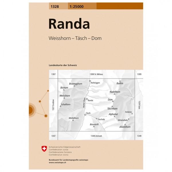 Swisstopo -  1328 Randa - Wandelkaart