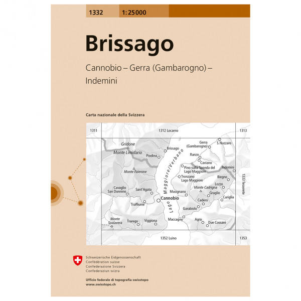 Swisstopo -  1332 Brissago - Hiking map