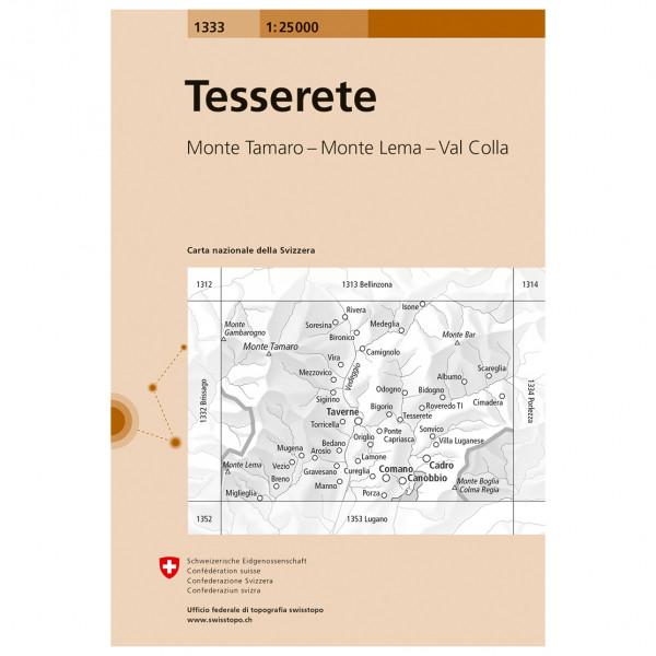 Swisstopo -  1333 Tesserete - Vaelluskartat