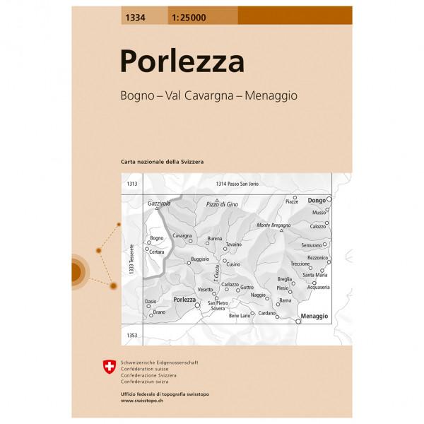 Swisstopo - 1334 Porlezza - Hiking map