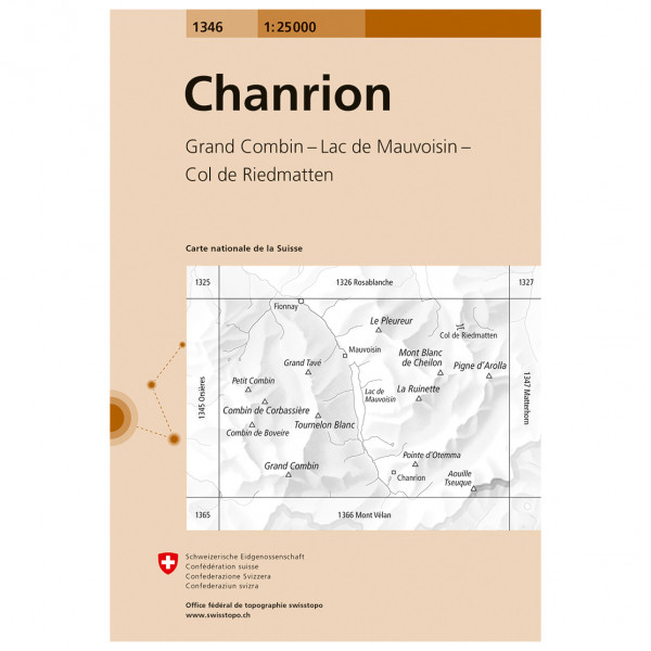 Swisstopo -  1346 Chanrion - Hiking map