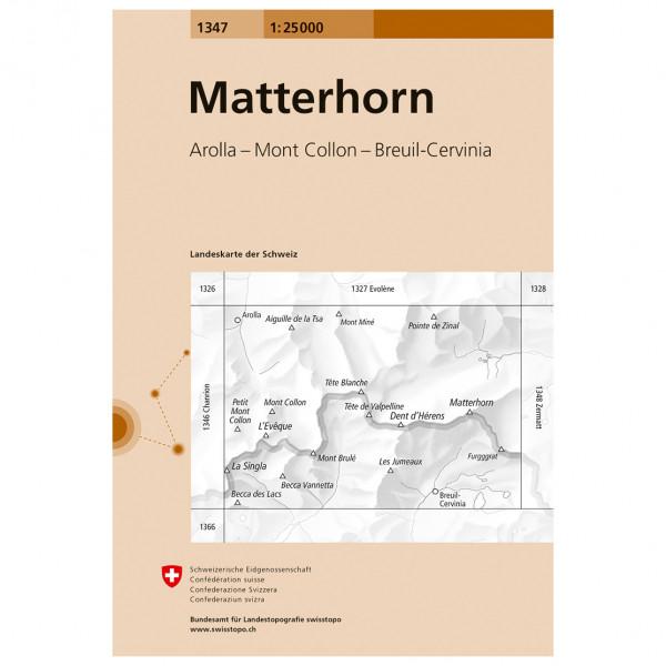 Swisstopo -  1347 Matterhorn - Vandringskartor