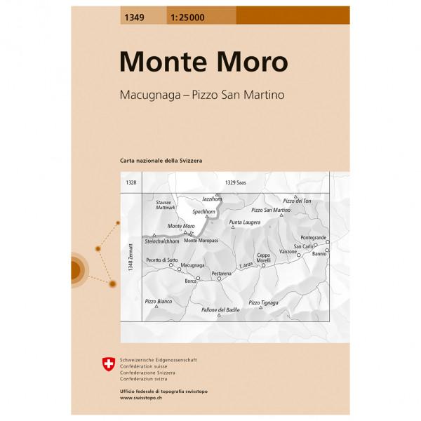Swisstopo -  1349 Monte Moro - Hiking map