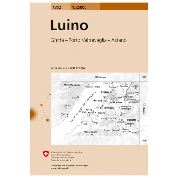 Swisstopo -  1352 Luino - Vandrekort