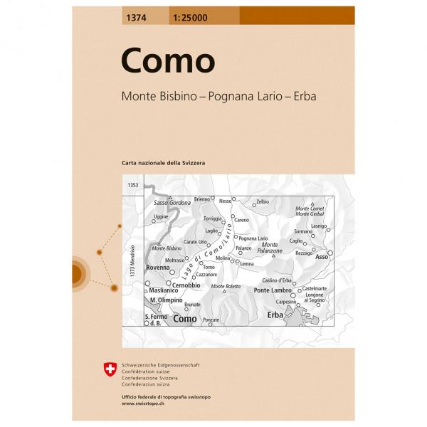 Swisstopo -  1374 Como - Vaelluskartat