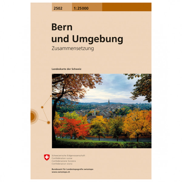 Swisstopo - 2502 Bern und Umgebung - Vandringskartor