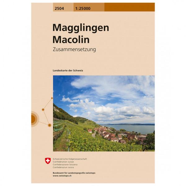 2504 Magglingen Macolin - Hiking map