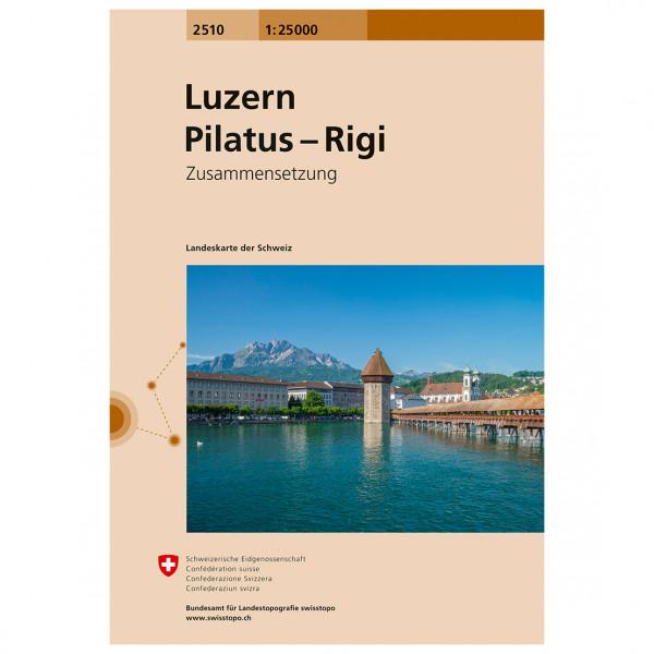 Swisstopo -  2510 Luzern - Wandelkaarten