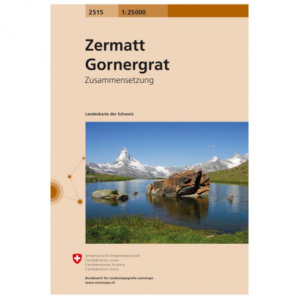 Swisstopo - 2515 Zermatt Gornergrat - Wanderkarte