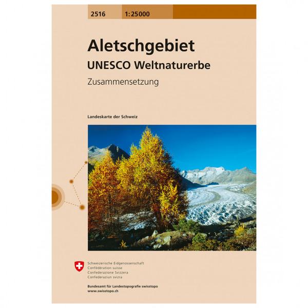 Swisstopo - 2516 Aletschgebiet - Wandelkaarten