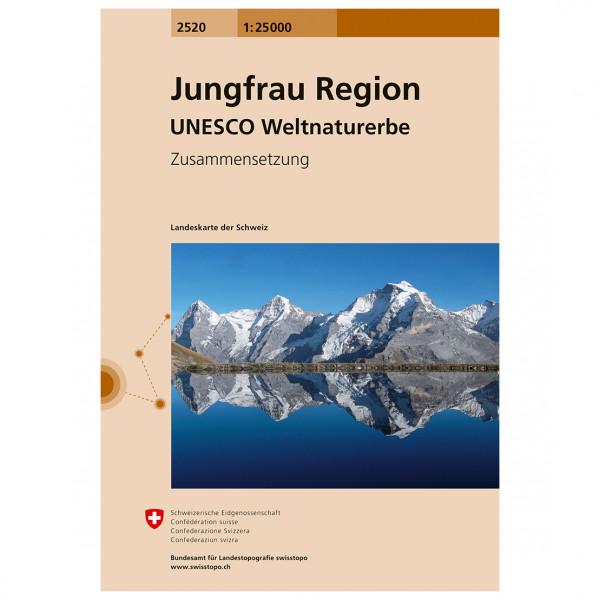 Swisstopo - 2520T Jungfrau Region - Wandelkaarten
