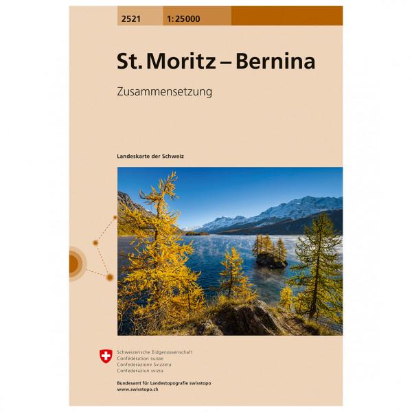 Swisstopo - 2521 St. Moritz-Bernina - Mapa de senderos