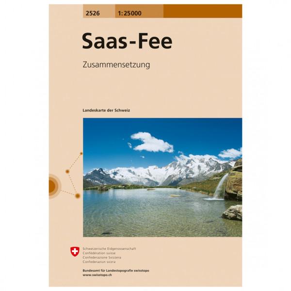 Swisstopo -  2526 Saas Fee - Wandelkaarten