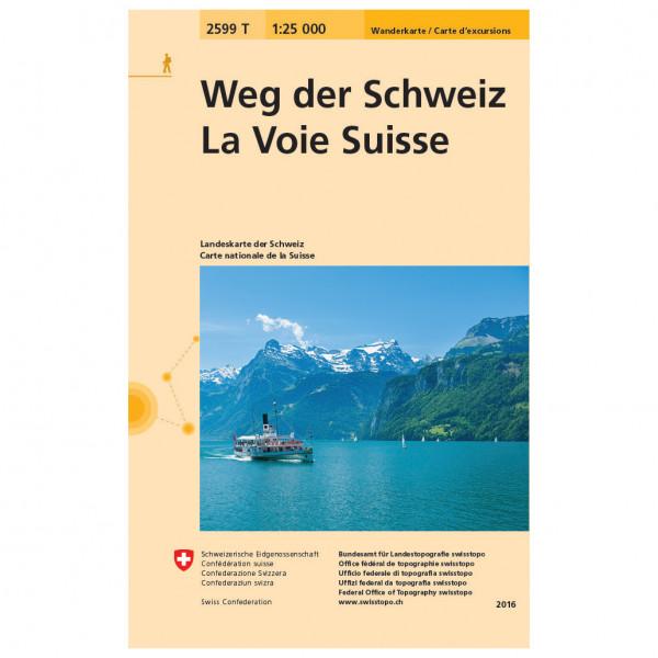 Swisstopo - 2599T Weg der Schweiz - Vaelluskartat