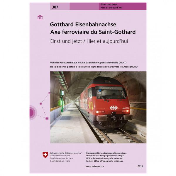 Swisstopo - 307 Gotthard Eisenbahnachse - Mapa de senderos