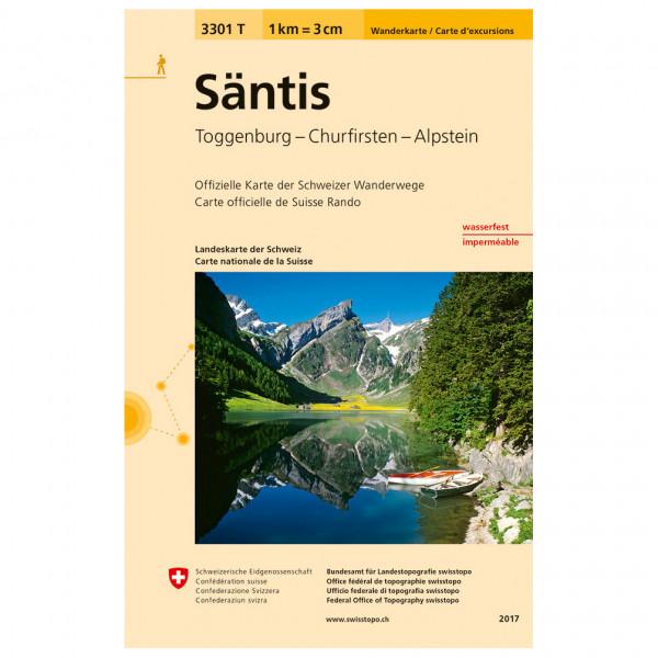 Swisstopo -  3301 T Säntis - Vaelluskartat