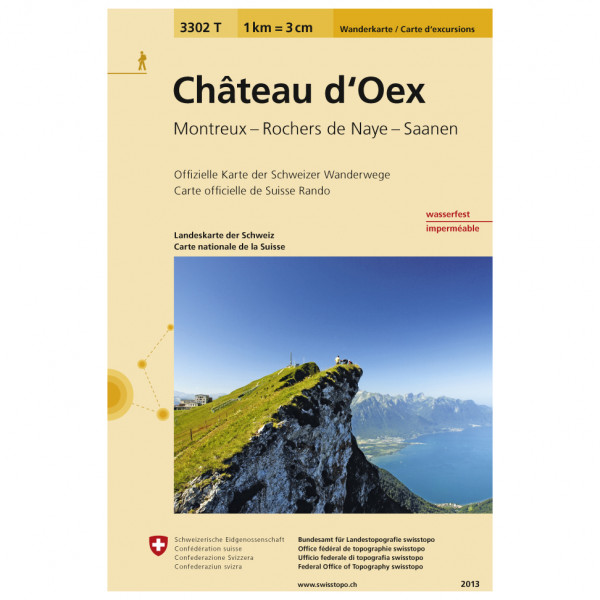 Swisstopo - 3302 T Château-d'Oex - Hiking map