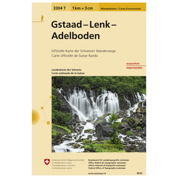 Swisstopo - 3304 T Gstaad - Lenk - Adelboden - Hiking map