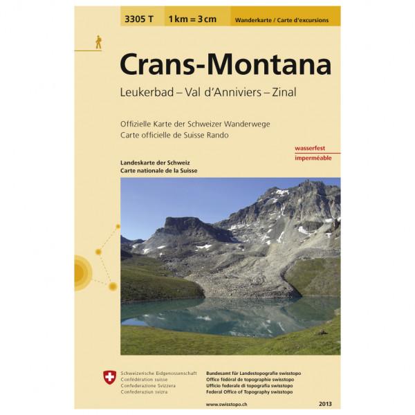Swisstopo -  3305 T Crans-Montana - Vandringskartor