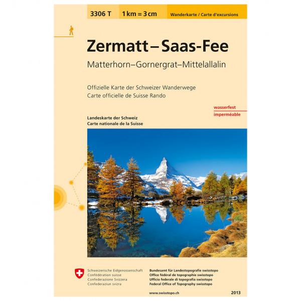 Swisstopo -  3306 T Zermatt - Saas-Fee - Vaelluskartat