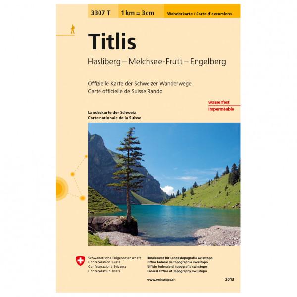Swisstopo -  3307 T Titlis - Vandrekort