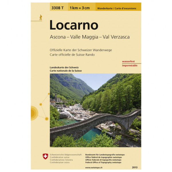 Swisstopo -  3308 T Locarno - Hiking map