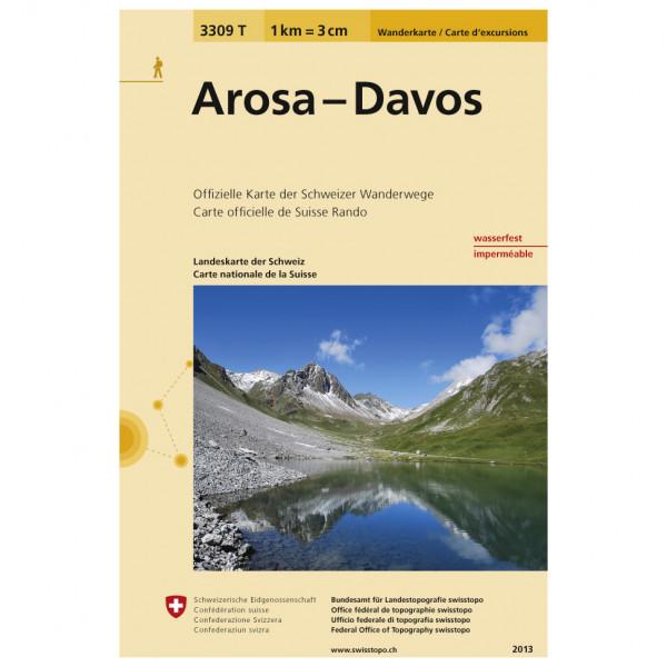 Swisstopo -  3309 T Arosa - Davos - Hiking map