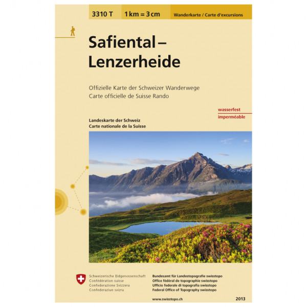 Swisstopo -  3310 T Safiental Lenzerheide - Vaelluskartat