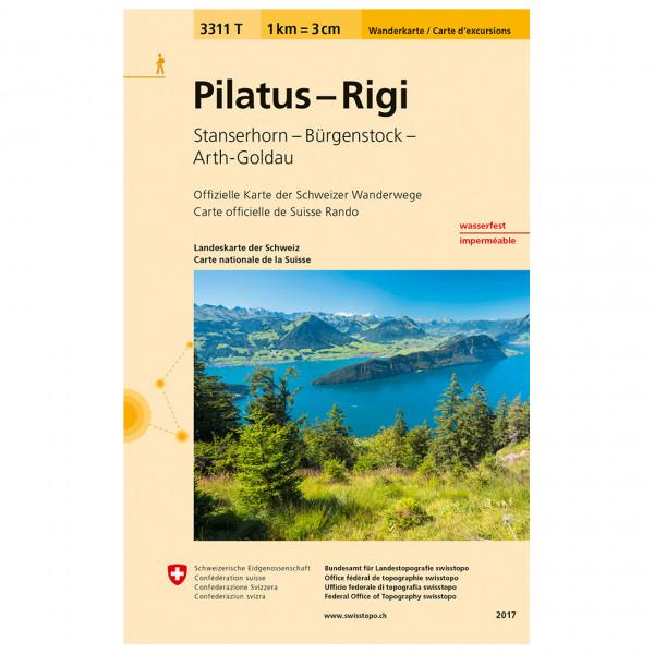 Swisstopo -  3311 T Pilatus - Rigi - Wandelkaarten