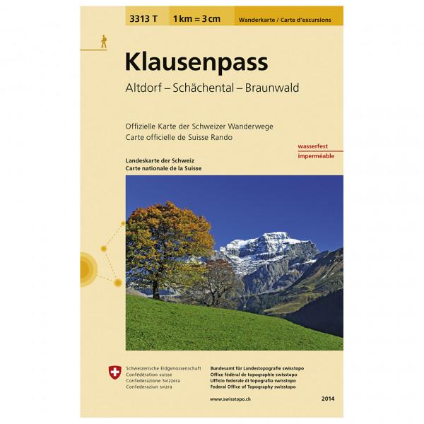 Swisstopo -  3313 T Klausenpass - Vandrekort