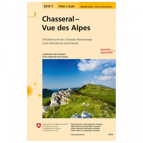 Swisstopo -  3315 T Chasseral - Vue des Alpes - Wandelkaarten